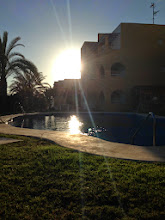 Photo: Evening sun by the pool