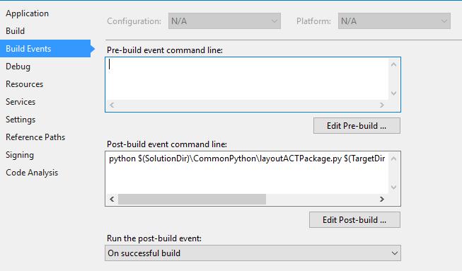 Код на Python – выделяет все файлы в папке C# проекта Visual Studio, необходимые для формирования ACT-расширения