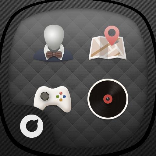 黑色極簡主題-Solo桌面 個人化 LOGO-玩APPs