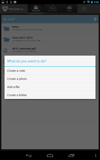 McAfee Personal Locker screenshot 10