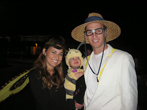 Photo: Bzz!  The bee keeper and his cute lil' bees!