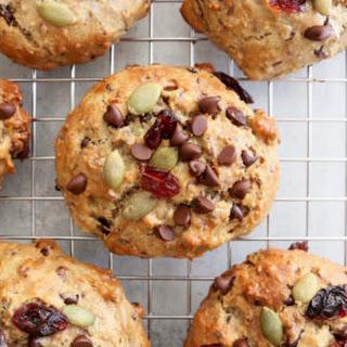 Trail Mix Breakfast Cookies.