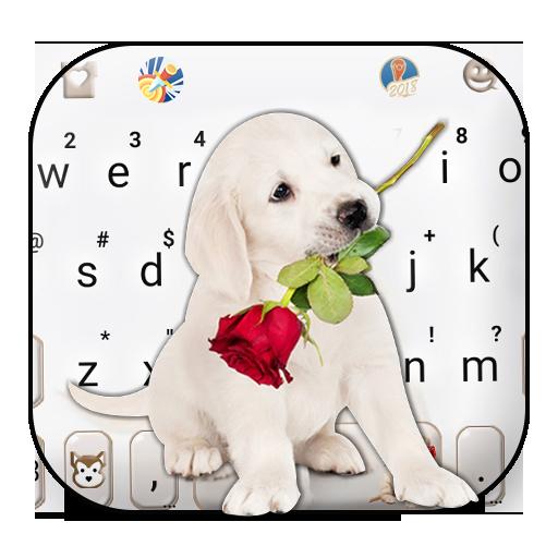 Puppy Love Rose Keyboard Theme Icon