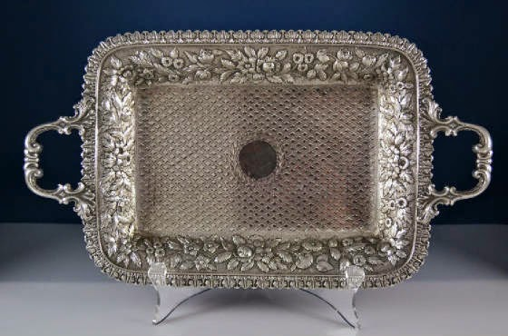 Photo: Kirk Repousse Ice Cream Tray — http://www.RareSterling.com  Sterling Silver Flatware and Hollowware  RareSterling.com Antiques — Buying Sterling Silver from anyone, anywhere in the USA. Trust in our Experience!  Call Mike Coone, the Rare Sterling Silver Specialist, today at 310.435.1056 or visit our website at http://www.RareSterling.com