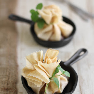 Caramel Apple-Brie Crêpe Parcels