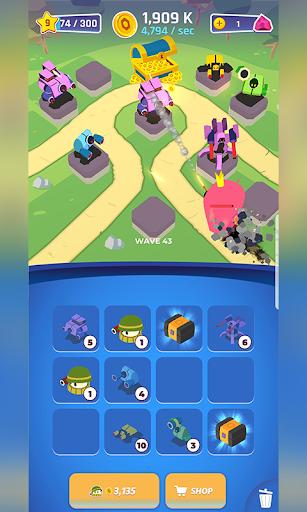 Merge Tower Bots  captures d'u00e9cran 1