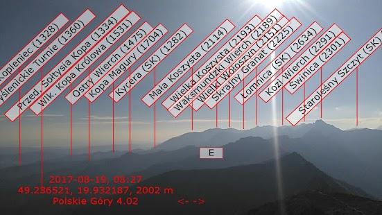 Polskie Góry - generator opisów panoram gór w AR - náhled