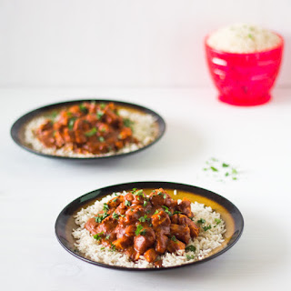 Healthy Indian Butter Chicken with Basmati Rice.