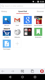 Opera browser- screenshot thumbnail