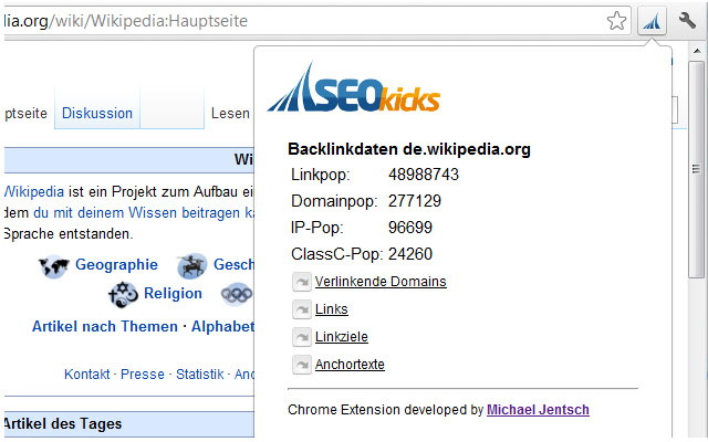 SEOkicks Backlinkdaten