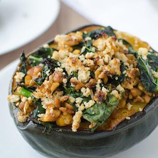 Kale & Tempeh Stuffed Acorn Squash
