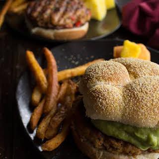 Spicy Guacamole Chicken Burger.