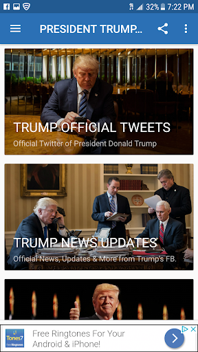 PRESIDENT TRUMP NEWS screenshot