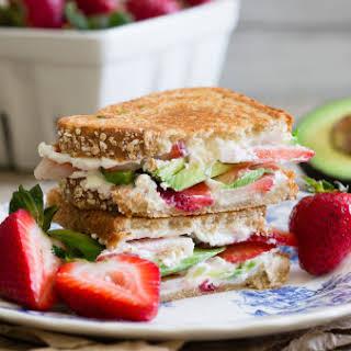Strawberry Avocado Goat Cheese Panini.