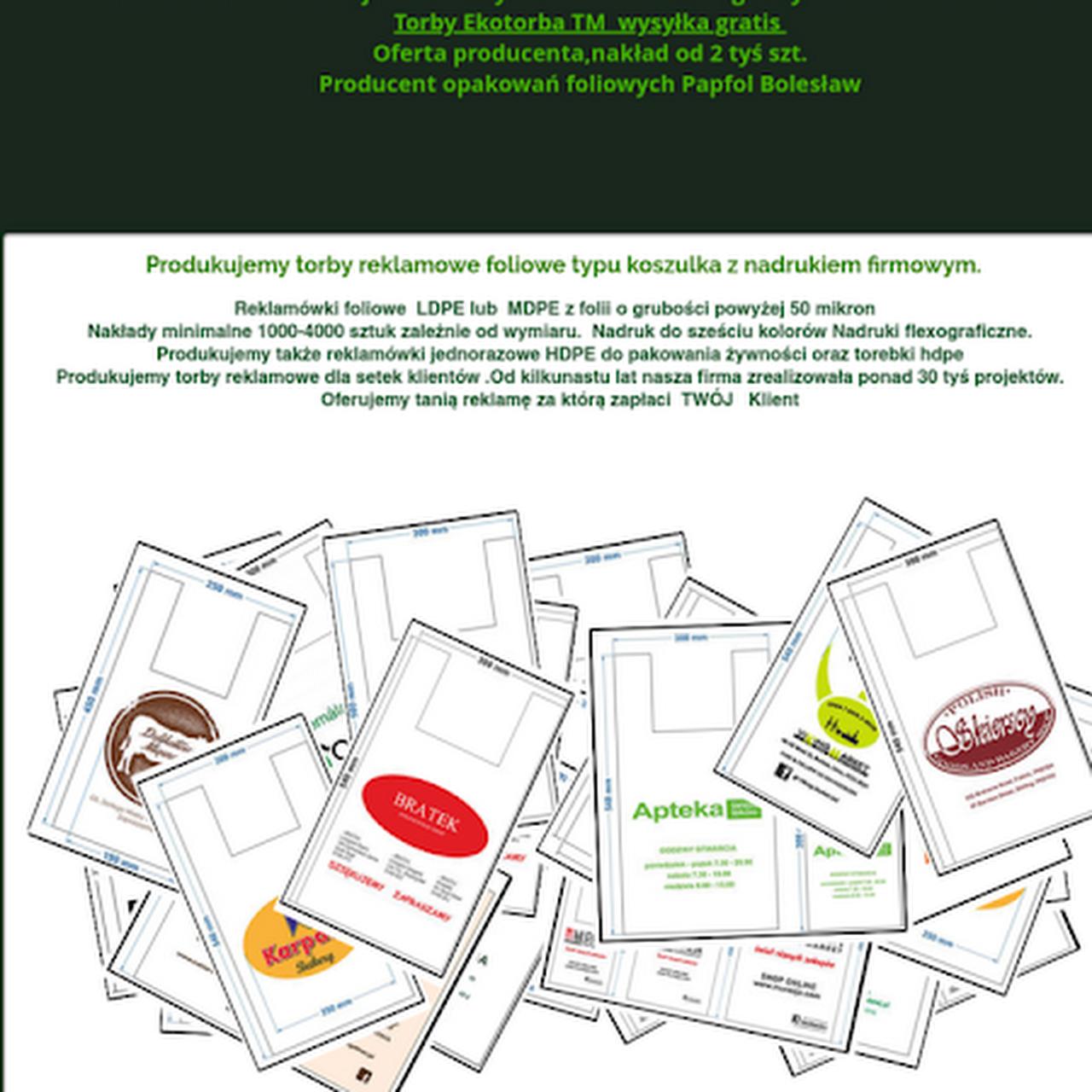 db507febfa33a Papfol torby foliowe,reklamówki z nadrukiem Ldpe,Hdpe Producent ...