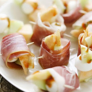 Ham, Melon, and Cheese Bites.