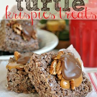 Turtle Rice Krispies Treats