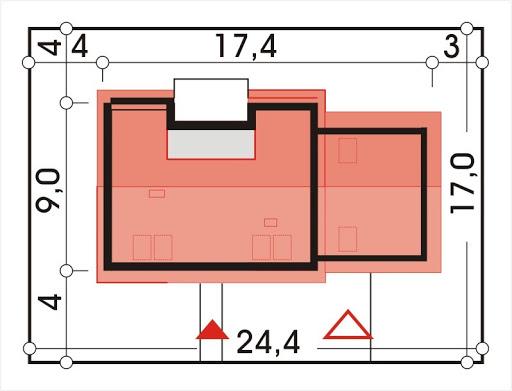 Adaś II wersja C z podwójnym garażem - Sytuacja