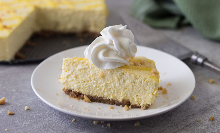 Mango Cheesecake with Macadamia Nut Crust Recipe | Yummly