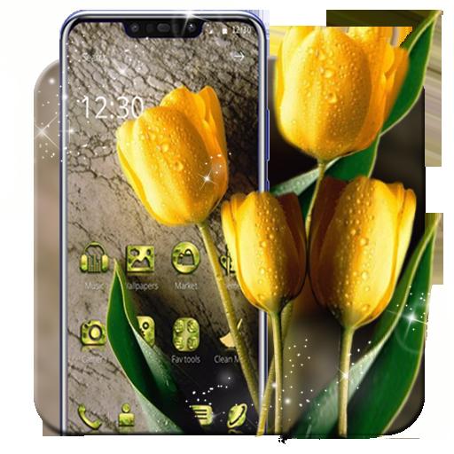 Beautiful Yellow Tulip Theme