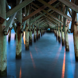 Under the Pier by Valerie Dyer - Buildings & Architecture Architectural Detail