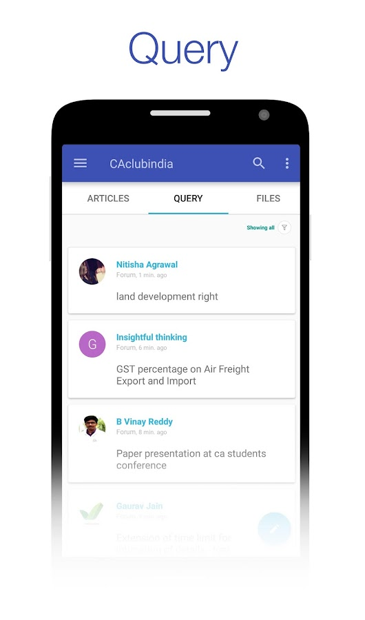 CAclubindia- Tax and Query App- screenshot
