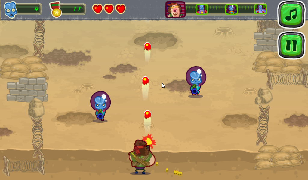 Aliens Attack- screenshot