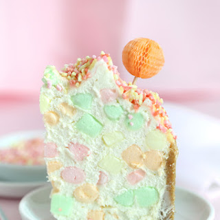 Fruity Marshmallow Cheesecake.