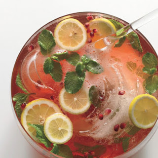 Pomegranate-Champagne Punch.