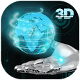 Transparent Earth 3D Theme icon