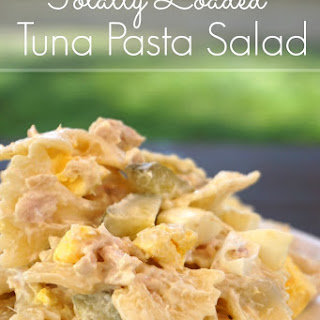 Totally Loaded Tuna Pasta Salad
