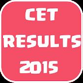 CET RESULTS KARNATAKA -  2015