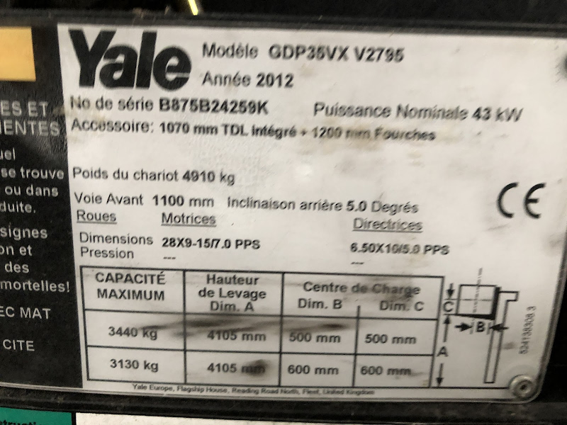 Picture of a YALE GDP35VX