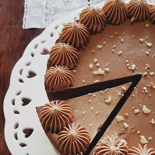 Easy No-Bake Nutella Cheesecake.