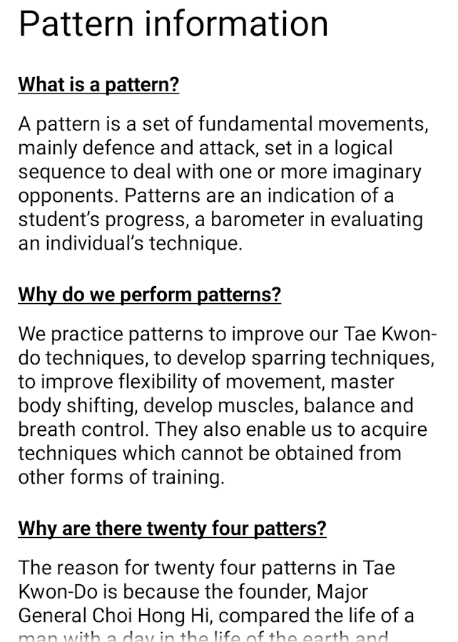 Tae Kwon Do Theory- screenshot