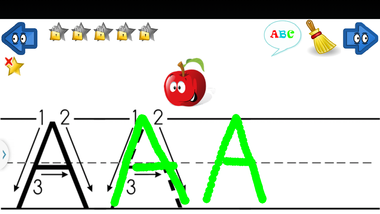 learn write letters abc 123 screenshot