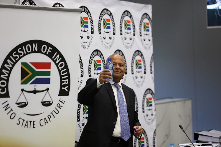Public enterprises minister Pravin Gordhan appeared before the state capture inquiry on Monday.