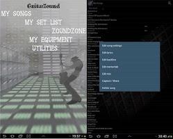 Screenshot of Guitar Zound - set list - LITE