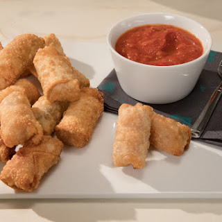 Crispy Salami and Cheese Egg Rolls.