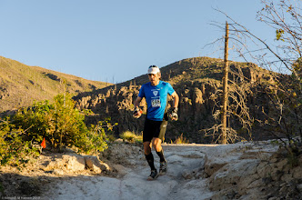 Photo: First to reach Mitchell Trail Head; Jemez Mountains Trail Run