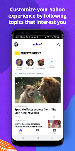 Yahoo - News, Mail, Sports screenshot 1