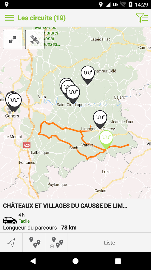 Circuits Lot et Dordogne- screenshot