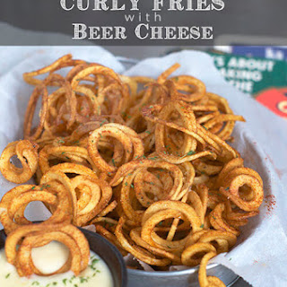 Seasoned Curly Fries with Beer Cheese