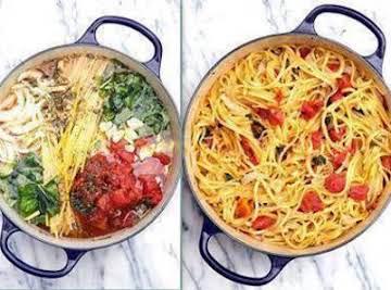 "Blow your MIND"" Tomato Basil Pasta! - No Straining, just Stirring"