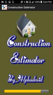 Construction Estimator Pro - náhled