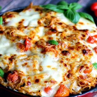 Baked Caprese Pasta.