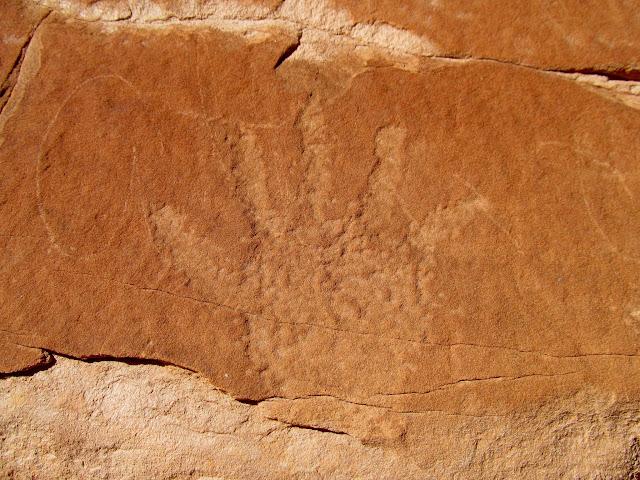 Handprint petroglyph