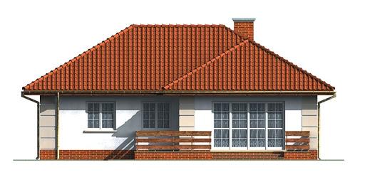 Dom przy Łabędziej - Elewacja tylna