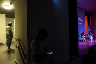 Photo: Naukas Bilbao 2015 por dentro. Arturo @elprofedefisica en capilla, antes de su charluación.