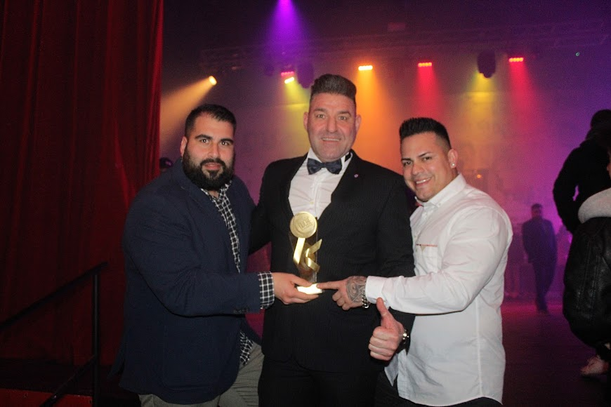 Galardonado y finalistas de los Premios de la Noche Almeriense.